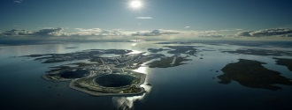 Diavik Diamond Mine and Diavik diamond mine reserves, Canada